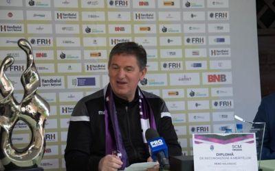 Antrenorul Pero Milosevic a plecat de la Poli Timișoara și a semnat cu HC Buzău