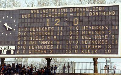 Povestea uitată a celui mai nebun meci din Bundesliga, Gladbach-Dortmund 12-0