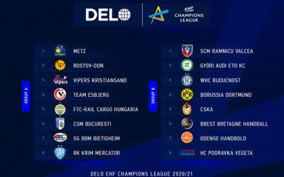 CSM București și SCM Râmnicu Vâlcea și-au aflat adversarele din grupele Ligii Campionilor