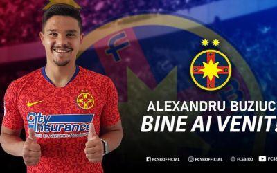 FCSB l-a prezentat pe Alexandru Buziuc