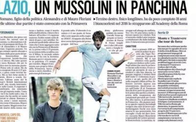 Paradoxul istoriei. Un strănepot al lui Benito Musolini a semnat cu Lazio