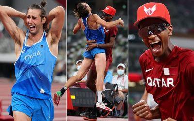 Au împărțit aurul. Italianul Tamberi şi qatarianul Barshim , campioni olimpici la săritura în înălțime