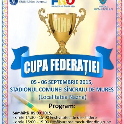 Cupa Federației la Oină începe pe 4 septembrie, la Sâncraiu de Mureș
