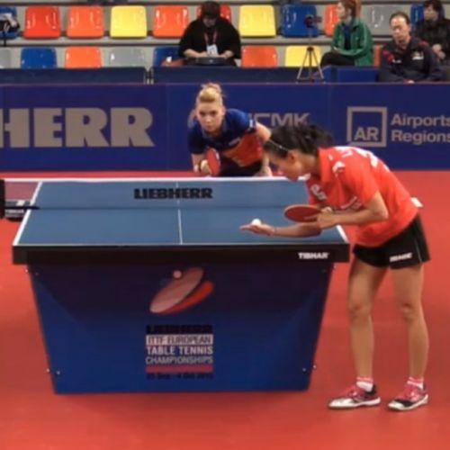 Naționala feminină de tenis de masă bate și Franța și câștiga grupa de la Europene