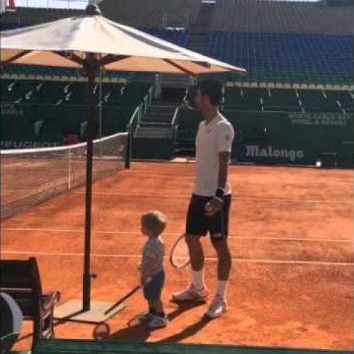 VIDEO / Novak Djokovic se antrenează cu fiul său de doi ani și jumătate