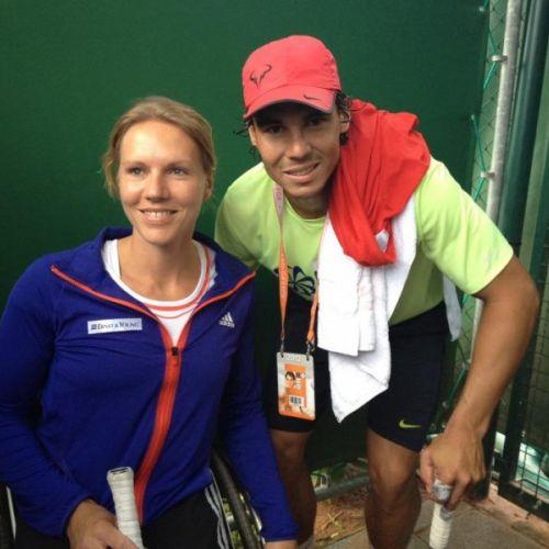 FOTO / Nadal s-a antrenat cu campioana paralimpicilor la tenis