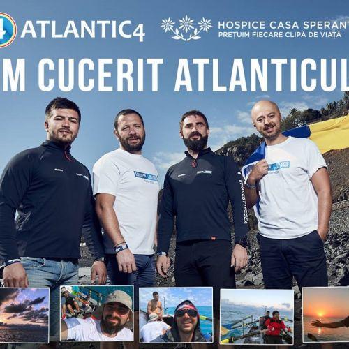Echipa românească Atlantic4 a traversat Oceanul Atlantic în timp record