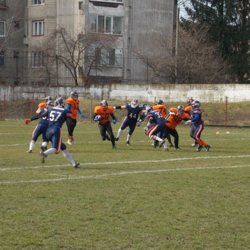 Bucharest Rebels s-a impus în turneul de fotbal american de la Timișoara