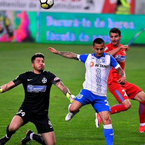 FCSB câștigă la Craiova, cu 1-0, iar lupta pentru titlu se dă în ultima etapă