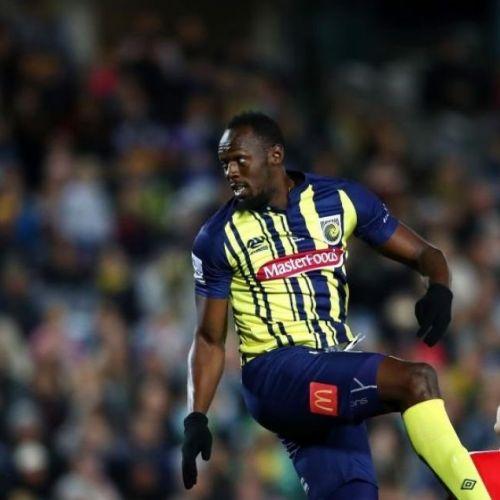 VIDEO / Usain Bolt a debutat ca fotbalist profesionist la Central Coast Mariners