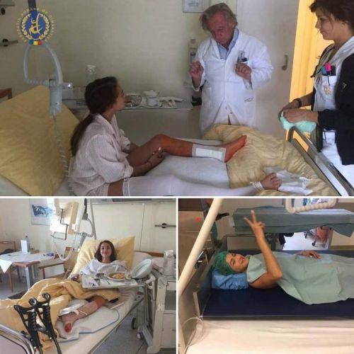 Larisa Iordache s-a operat pentru a treia oară la tendonul lui Ahile