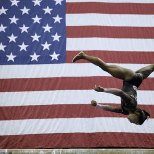 VIDEO / Simone Biles a reușit o săritură inedită pentru o gimnastă