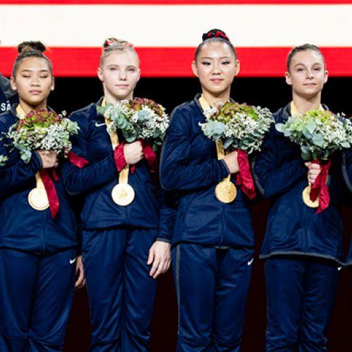 SUA a câștigat al 7-lea titlu mondial la gimnastică feminină pe echipe