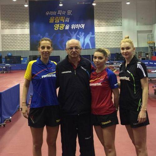 Jucătoarele de tenis de masă ale României, decorate de preşedinte