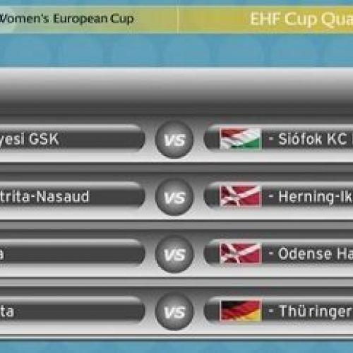 S-au tras la sorți sferturile Cupei EHF la handbal feminin. Bistrița va înfrunta Ikast
