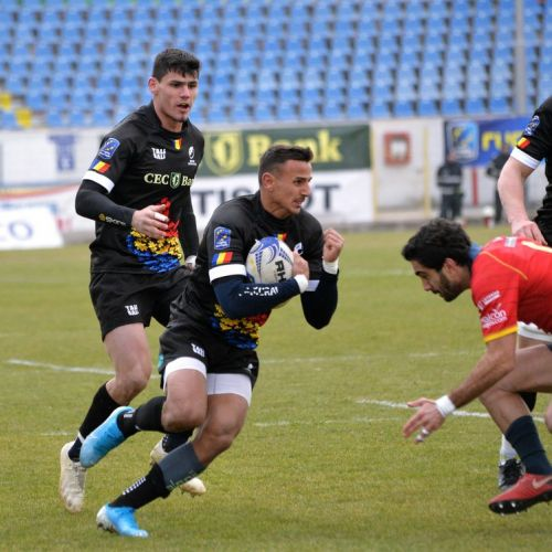 Naționala de rugby a României a învins Spania în Rugby Europe Championship