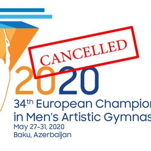 Campionatele Europene de gimnastică, amânate din cauza pandemiei