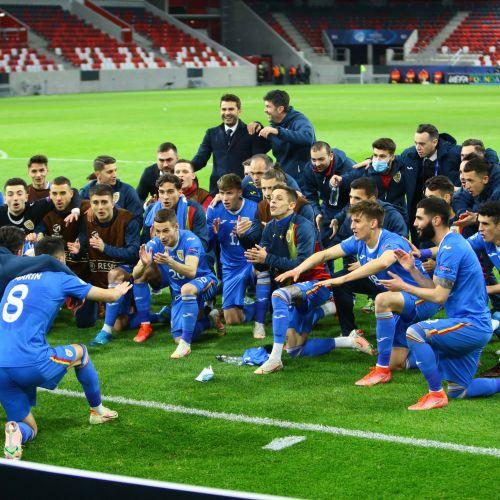 Victorie mare pentru naționala de tineret a României, 2-1 cu Ungaria, la Euro