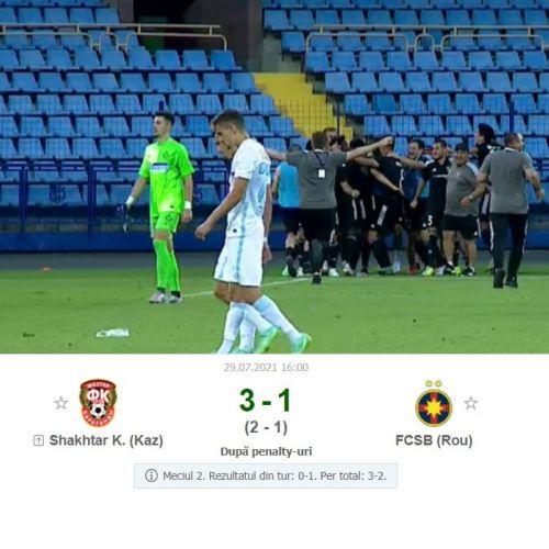 Seara mediocră pentru fotbalul românesc. FCSB, Craiova și Sepsi, eliminate din Conference League