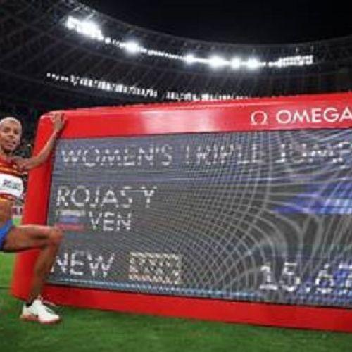 Aur olimpic cu record mondial pentru venezueleana Yulimar Rojas la triplusalt